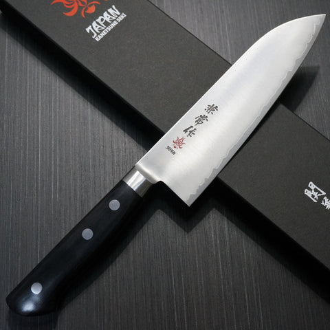 Kanetsune Seki Super Gold 2 Powdered Steel Santoku Knife 165mm KC-133