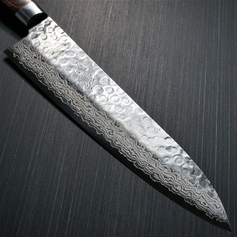 Isshin Cutlery Hammered 17 Layers Damascus VG10 Chef Knife 210mm