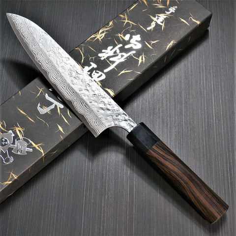 KATO VG10 Hammered Damascus Gyuto Chef Knife 180mm Ebony Handle