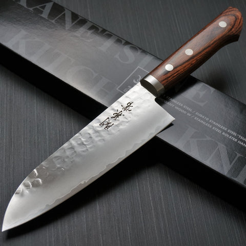 Kanetsune Seki TSUCHIME Hammered Finish VG-1 Santoku Knife 165mm KC-942