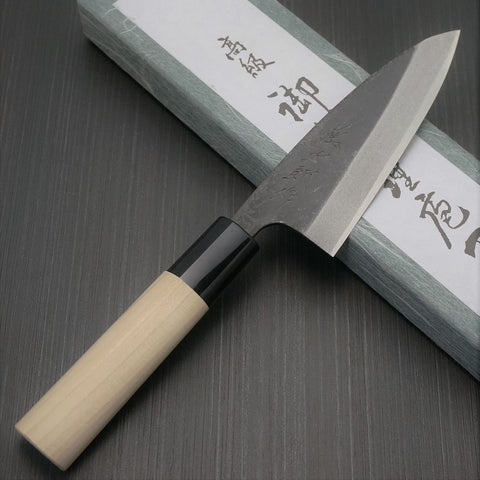 TOJIRO SHIROGAMI Black Finish Mini Light Deba Knife F897 F898