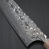 Yoshimi Kato Super Gold 2 SG2 V-shape Black Damascus Gyuto Chef Knife 210mm Jarrah