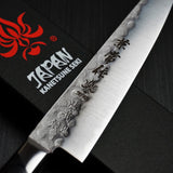 Kanetsune Seki Nashiji Hammered Blue Steel AOGAMI #2 Petty Utility Knife 135mm KC-924