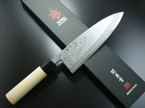 Kanetsune Seki White Steel Damascus 11 Layers Deba Knife 210mm KC-511