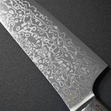 Kajin ZDP189 Damascus Water Buffalo Custom Santoku Knife