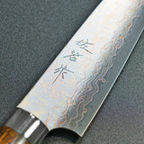 Saji Takeshi VG10 Colored Damascus Petty Knife 130mm Ironwood