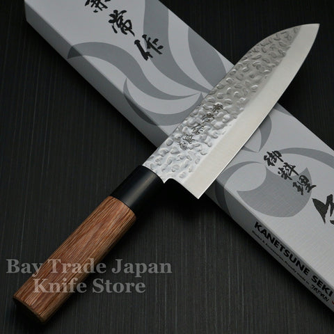 Kanetsune Seki Hammered Finish DSR-1K6 Santoku Knife 165mm KC-952