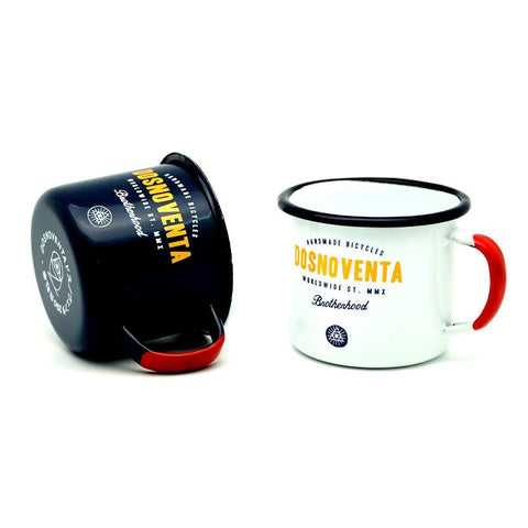 "DOSNOVENTA ""YELLOWSTONE"" ENAMEL MUG (set of 2 mugs + 2 coasters)"