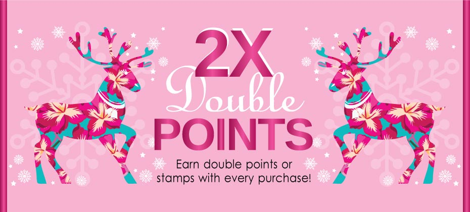 2016 Year-End Double Point Offers Begin Now!
