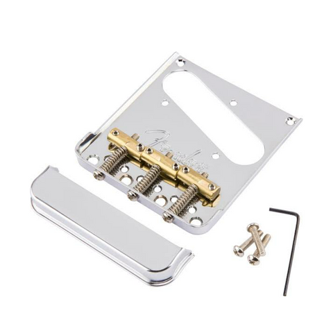 3-Saddle American Pro Telecaster® Bridge Assembly (Chrome)