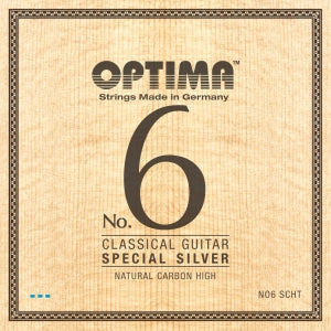 Optima No 6 Classical Guitar Silver