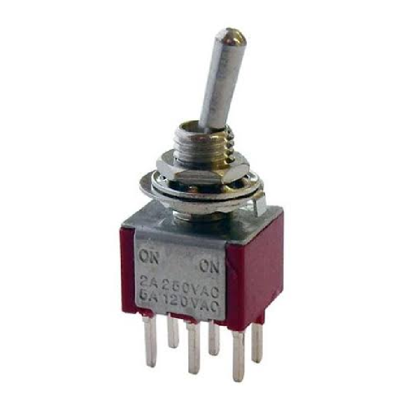 MojoTone DPDT Mini Toggle Switch On-Off-On