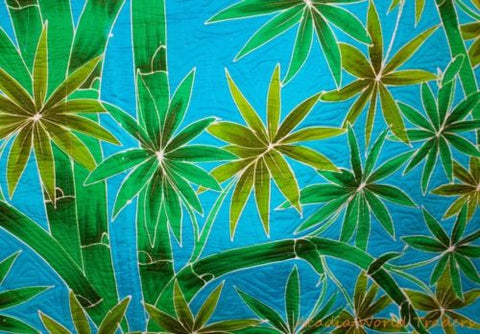 "Bamboo Forest quilt Batik bedspread comforter Bali Art King-Queen 95"" X 105"" - Acadia World Traders"