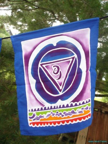 Chakra Lotus Prayer Flag string banner~meditation Yoga Bali Batik wall Art - Acadia World Traders