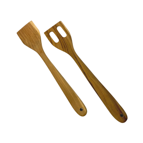 Salad Set Tosser Spatula Turner Teak Wood organic kitchen utensils Serving Spoon