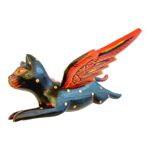 Winged Flying Black Cat Balinese Mobile crib angel