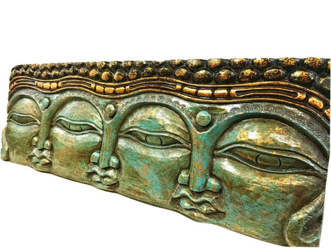 Infinite Faces Buddha Wall Art Sculpture Panel - Acadia World Traders