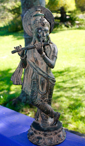 Krishna Bronze Statue lost wax cast Sculpture