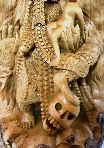 Balinese Rangda Statue Demon Queen Kali Goddess Sculpture wood carving Bali Art - Acadia World Traders