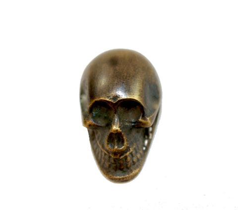 Solid Brass Gothic Skull Skeleton Knob Drawer Pull Handle Hook Handcrafted
