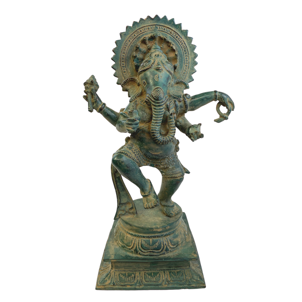 Ganapati Ganesh Dancing - Lord of Beginnings & Remover of Obstacles Bronze statue