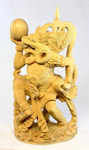 Hanuman Monkey God Sculpture Ramayana Bali Art hand Carved Wood Statue