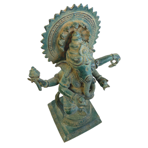 Dancing Ganesha Bronze Statue Remover of Obstacles lost wax cast Sculpture