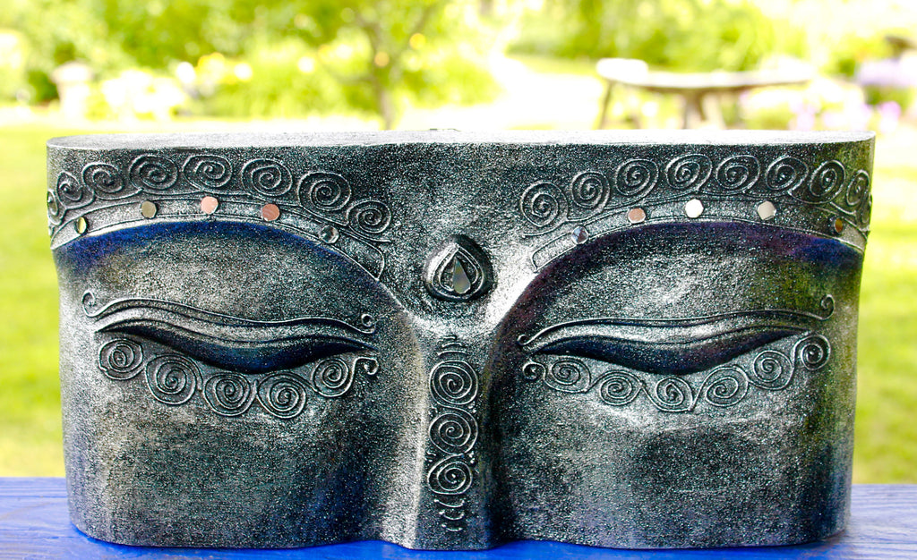Wise Eyes of Buddha Hand Carved Wall Art Sculpture - Acadia World Traders & Wise Eyes of Buddha Hand Carved Wall Art Sculpture u2013 Acadia World ...