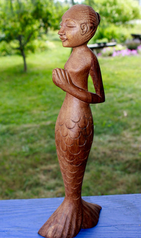 Tadasana Mountain Pose Asana Yoga Mermaid Figure - Acadia World Traders