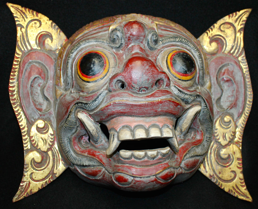 Balinese Mask Rawana Demon King Hand Carved - Acadia World Traders