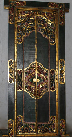BALINESE Door Hand Carved Wood Bali Architectural Art Home Garden Indonesia - Acadia World Traders