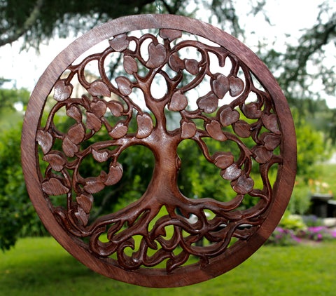 Tree of Life Hand Carved from Wood