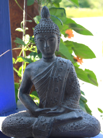 Enlightened Buddha Meditating Garden Statue