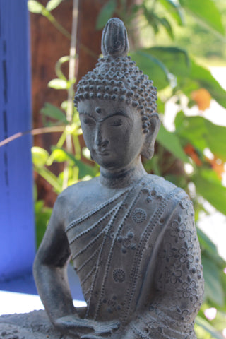 Enlightened Buddha Meditating Garden Statue - Acadia World Traders