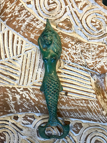 Mermaid Sea Maid Bronze Bottle Opener Verdigris - Acadia World Traders