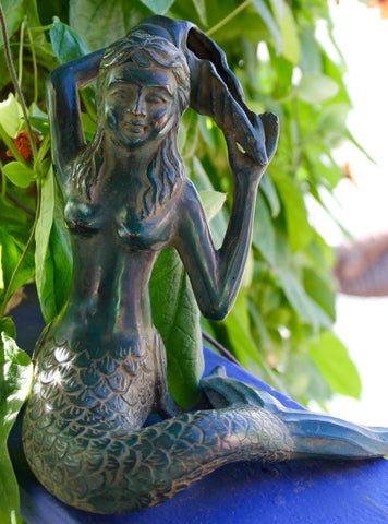 Bronze Mermaid Sculpture Sea Goddess - Acadia World Traders