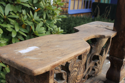 Old Kudus Java Tobacco leaf Cutting Stool Kudus Java Hand Carved Wood - Acadia World Traders