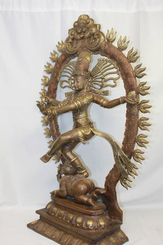 Shiva Nataraja Statue Lord of Dance Balinese Hindu art cast Bronze - Acadia World Traders