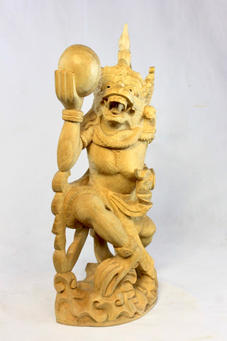 Balinese Hanuman Monkey God Sculpture Ramayana Bali Art hand Carved Wood Statue