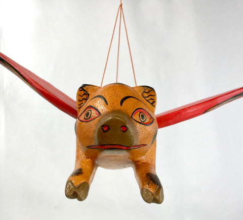 Balinese FLYING Pig Mobile Winged Spirit Chaser - Acadia World Traders