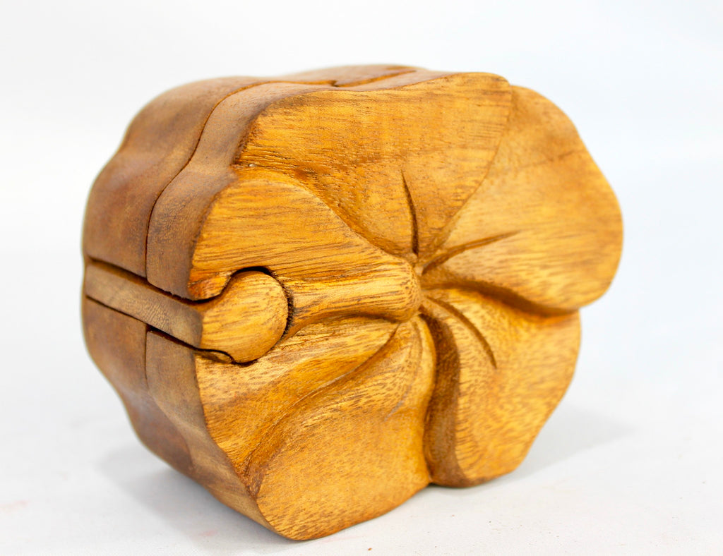 Tropical Hibiscus Flower Secret Puzzle stash Box - Acadia World Traders