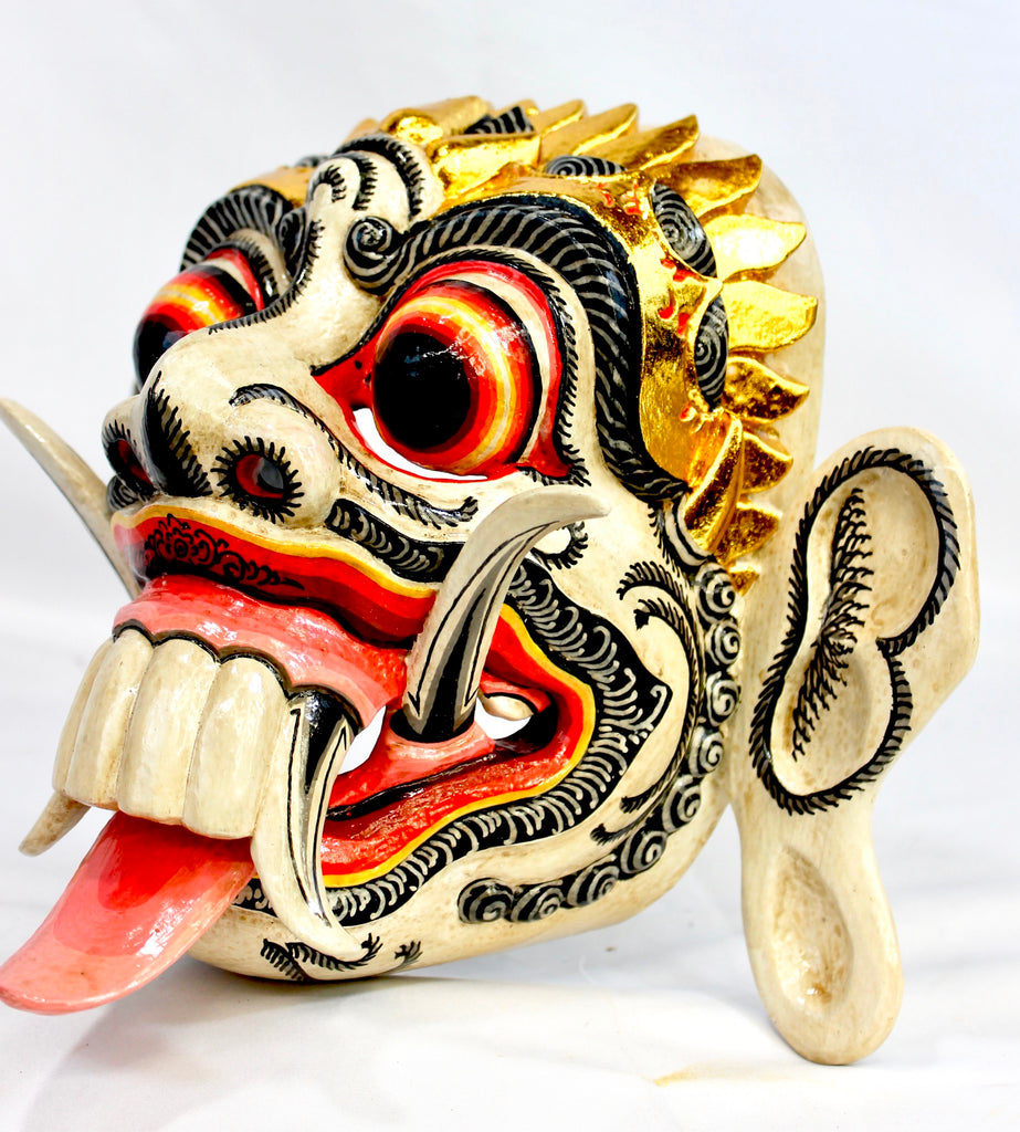 Rangda Demon Queen Mask Kali Durga Goddess Balinese wood carving Wall Art - Acadia World Traders