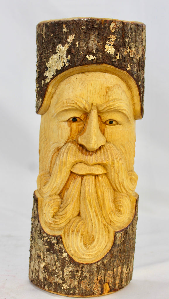 "Tree Spirit Wizard Mask wall sculpture Handmade Wood carving Bali art 12"" - Acadia World Traders"