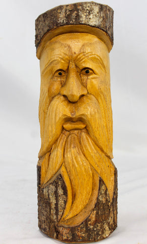 Tree Spirit Old Man Wizard Mask wall art sculpture