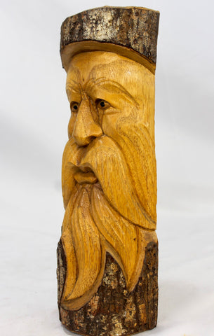 Tree Spirit Old Man Wizard Mask wall art sculpture - Acadia World Traders