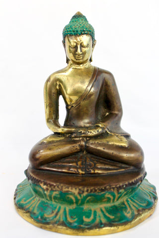 Meditating Buddha Statue Dhyana Mudra Bronze Sculpture Lost Wax Cast Bali Art