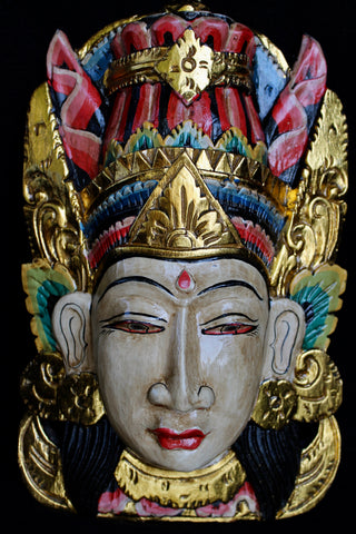 Balinese Rama & Sinta Mask Wall art hand carved wood