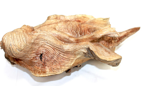 Mermaid Statue Parasite Wood Carving Sculpture organic - Acadia World Traders