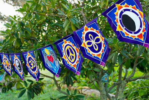 Handmade Batik Bali Prayer flag string