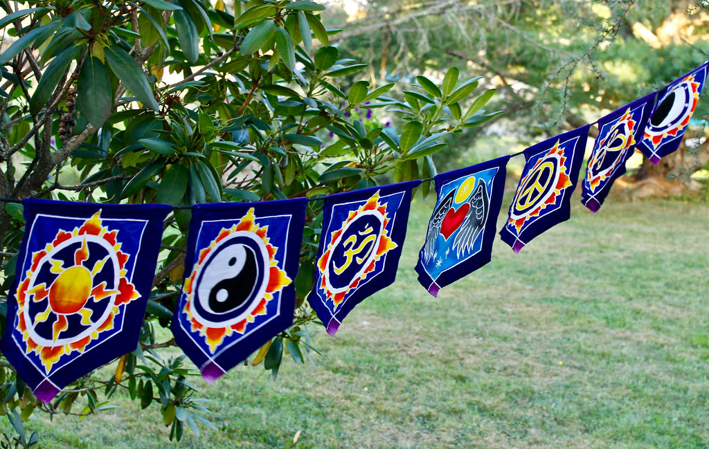 Bali Batik Prayer flag string